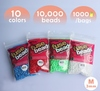 free shipping 26 bags 3mm mini hama beads 500pcs/bag/color--26 solid color mini perler beads wholesale and retail