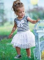 Hot sale baby  Stripe dress  Ball Gown girl dress