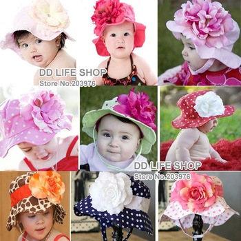 Retail 3pcs with three size one lot Fashion Baby~infant~little sun hat summer cap+free shipping