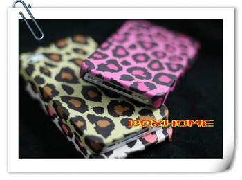 Original  Leopard leather case for Iphone 4 4g 4s wallet pouch women handbags Skin case perfume luxury smartphone cover