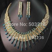 High Quality Austrian Crystal Promotion 18 K Gold Design Fashion Bridal Jewelry Sets