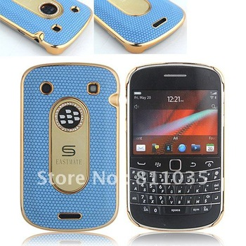 Luxury leather skin case for Blackberry Bold 9900,FREE SHIPPING via DHL/UPS/FEDEX,gold plating,24K plating with Logo