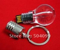 Free Shipping Waterproof   Full 4GB,8GB,16GB,32GB,64GB Capacity Ruggedness Light   Bulb Thumbdrive USB Flash Memory Drive