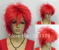 Red Short Anime costumes party cosplay wig 10pcs/lot mix order free shipping