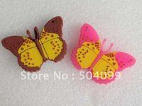 Free Shipping! Guaranteed full capacity Butterfly Cute USB Flash Drive 4GB,8GB,16GB,32GB,64GB