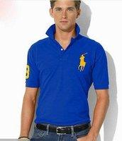 Men's polo shirt  lapel T-shirt short sleeve T-shirt personality male T-shirt