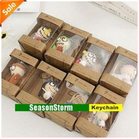 [CPAP Free Shipping] Wholesale Wooden & Wacky Voodoo Doll Toy / Forest Ghost Toy Cell Phone Charm 300pcs/lot (SC-17P)