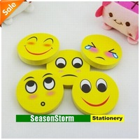 [CPA Free Shipping] Wholesale Cute Smile Face Memo Pads / Notepads Stationery 20pcs/lot (SP-87)