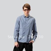 (5PCS/LOT) Free Shipping,2012 Newest Hot,Wholesale button Plaid long-sleeved shirt,Men's Leisure Size(S-XXL) 2Colors Shirt SA090