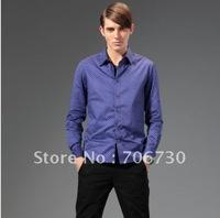 (5PCS/LOT) Free Shipping,2012 Newest Hot,Wholesale Noble velvet stitchingdot long-sleeved shirt,Men's Leisure 4ColorsShirt SA097