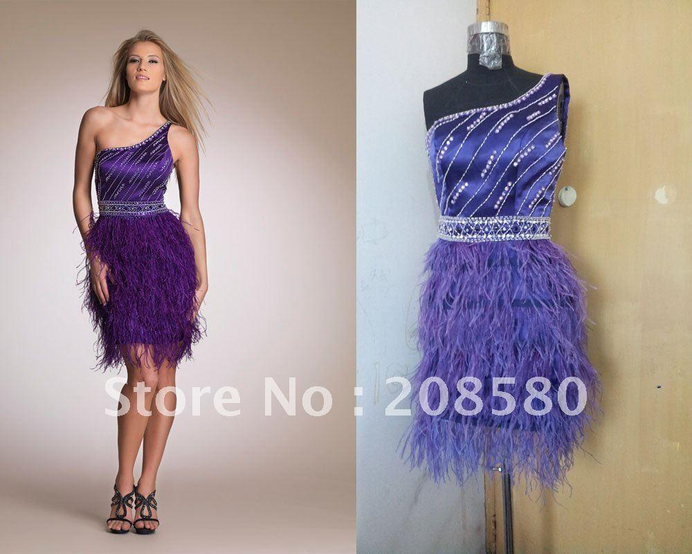 Short Purple Party Dresses