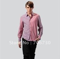 (5PCS/LOT) Free Shipping,2012 Newest Hot,Wholesale fashion Changing hit stripe long-shirt,Men's LeisureSize(S-XXL) 2Colors SA105