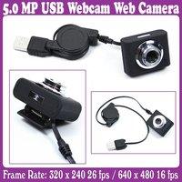 5.0 MP USB Webcam Web Camera for Laptop w/Clip Black_Free Shipping