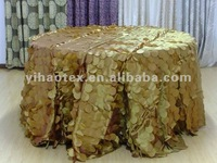 "120""R Fancy apple pintuck taffeta table cloth for wedding party"