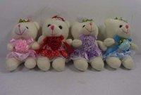 """Marriage Teddy Bear Plush Doll Toy Keychain 3.9"""" baby kids phone keychain,figure Keychain"""
