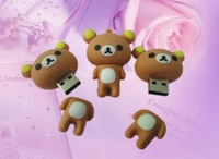 free shipping from  factory 8GBCute Rilakkuma Bear Style USB Memory Stick Flash Drive thumbdrive pendrive Pen