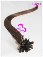 1.0g/pc,4# medium brown, bonded nail hair,10&quot; 12&quot; 14&quot; 16&quot; 18&quot; 20&quot; 22&quot; 24&quot; 26&quot; 28&quot;,30&quot;,U tip hair,fusion hair,free shipping!