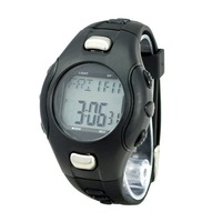 Free Shipping New Sporty Strapless Noctilucent Heart Rate Monitor Sport Sphygmograph Pulsometer Pulse Wave Watch - Black
