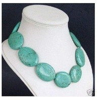 Charming Beautiful Jewelry large turquoise necklace Fashion Free shipping  n-35