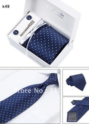 Reduced prices Gentleman true thing commerce tie + tie clip marriage gift box 20pcs(China (Mainland))