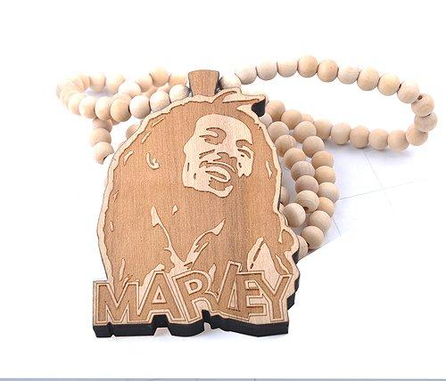 Боб Марли лица деревянные бусы ожерелье