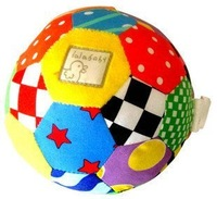 Free shipping hot sale bright-colored lalababy plush bell ball baby toys randomly delivery 1pc
