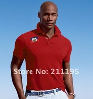 Hot Red colour Summer Classic-Fit Block Sz m-xxl,Men's Short Sleeve T shirt ,new styles of men shirt free shipping