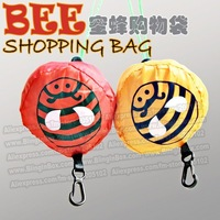 Bee insect Shopping bag only 15pcs/lot min-order,many colors available Eco-friendly reusable folding handle Bag + free shipping