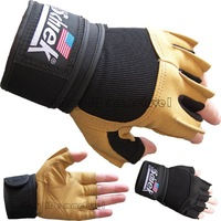S-SCHIEK 425 Power Gel 540 PLATINUM FITNESS WEIGHT LIFTING GLOVE brown black L/XL