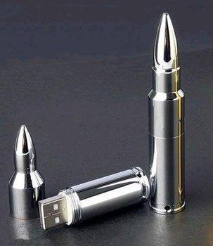 Genuine 4GB/8GB/16GB Metal Bullet Shape USB 2.0 Memory Stick Flash Drive