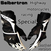 New street gloves seibertron SP-2 / sp2 gloves Leather Protective Motorcycle Racing mens gloves Black size S M L