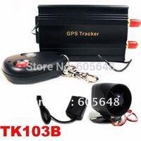 Free Shipping Quad-band Google Link SMS Auto Vehicle Car GPS Tracker TK103B + Shake Sensor+ Siren