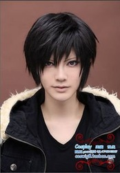Free shipping 12inches the new fashion cheap short black cosplay wigs wholesalers(China (Mainland))