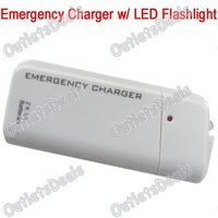 Emergency Charger for iPhone iPod Cellphones PDA w/ LED Flashlight,Use 2pcs AA Batteries Charge iPhone Cellphones,Free Shipping