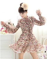 Женское платье 2012 brand New arrvial KM Flower Printed pencil evening ladies dress SKIRT runway Elegant SML XL XXL