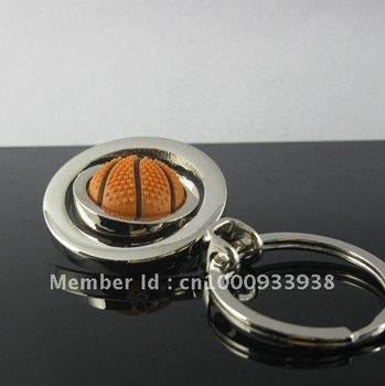 keyring basketball nice keyring freeshipping by China post air parcel, fashion key chain, metal chain
