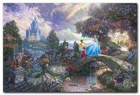 Free shipping CINDERELLA WISHES UPON A DREAM Art Print Thomas kinkade art modern home decor landscape paintings 0314