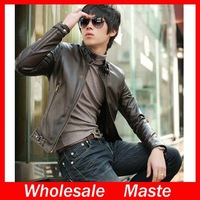 2014 hot sale men's fashion Slim leather jacket free shipping 2PY2
