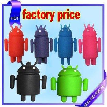 wholesale Free shipping! Google Android Robot USB 2.0 FLASH DRIVE pen drive usb stick 8GBusb thumb drive