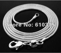 Wholesale 5 PCS 925 silver snake chains 1mm 16 inch Free Shipping