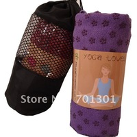 South Korea, Japan  free shipment Yoga towel with PVC flower dot, Aborbent, 10 years  Manufacturer  SGS certificate
