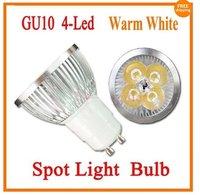 Free Shipping Wholesale Guaranteed New GU10 Warm White 4W 4x1W Energy Saving LED Spot Lamp Light Bulb 110V - 240V