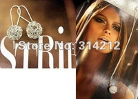 HOT:Wholesale fashion trendy  sliver color ball earrings, hot sell ball earrings, lovely popular ball earrings,+free shipping-6
