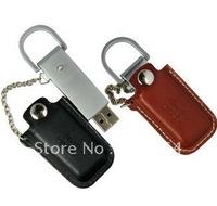 Free shipping:  Real full capacity  8GB Leather USB flash driver (20pcs/lot)