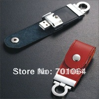 Free shipping:  Real full capacity  8GB Leather USB flash driver (30pcs/lot)