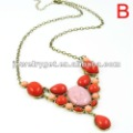 Fashion Resin Drop Pendant Spring Necklace,3 Colors Available, NL-1738