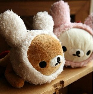 Free Shipping RilakkumaEasily bear Play the Bunny Plush Pencil Case Plush Pencil Case O1215 Rilakkuma Bear