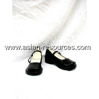 Cheap Wholesale/Retail Long Black Cosplay Shoes&Boots D.Gray Man Road Halloween Chiristmas Party Costume Suit S0306