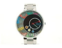 XXCOM 2012 Unique Dial Plate Design Stainless Steel Men's Electronic Quartz Wrist Watch (Silver)(China (Mainland))