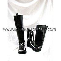 Cheap Wholesale/Retail Long Black Cosplay Shoes&Boots D.Gray Man Miranda Lotto Halloween Chiristmas Party Costume 0312